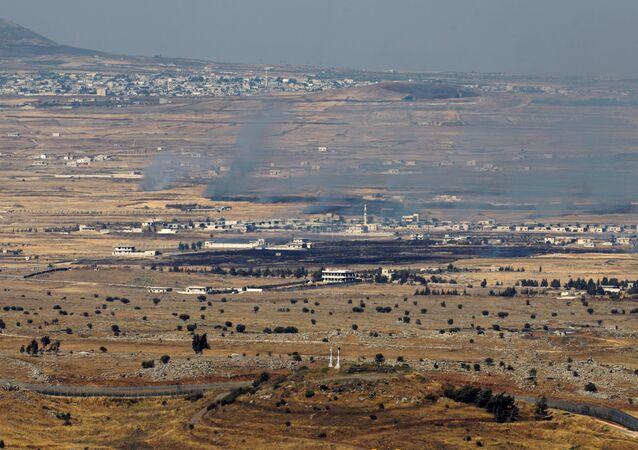 Imagens da fronteira entre Israel e Síria, nas Colinas de Golan, palco de um ataque vindo do lado sírio e, posteriormente, retaliado pelos israelenses