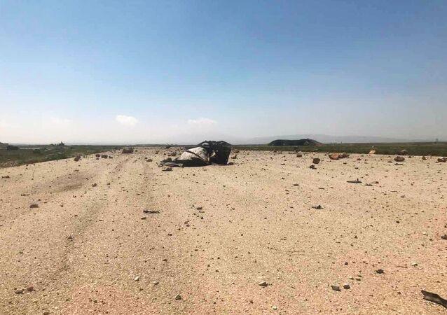 Base aérea de Shayrat após ataque norte-americano em abril de 2017