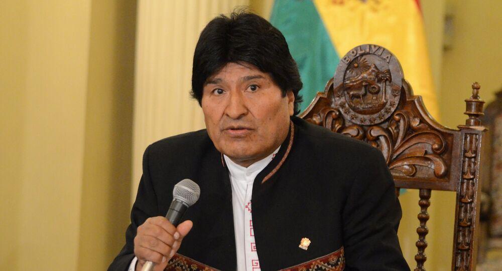Evo Morales, presidente da Bolívia (arquivo)