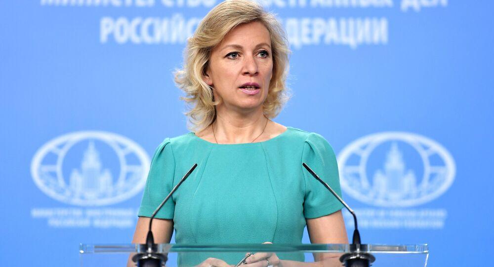 Entrevista coletiva da representante oficial do Ministério das Relações Exteriores da Rússia, Maria Zakharova