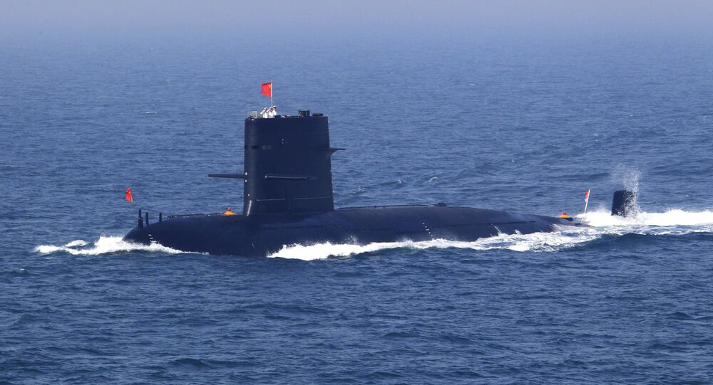 Submarino chinês, foto de arquivo