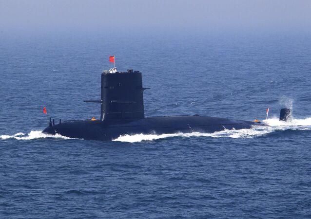 Um submarino chinês (foto de arquivo)