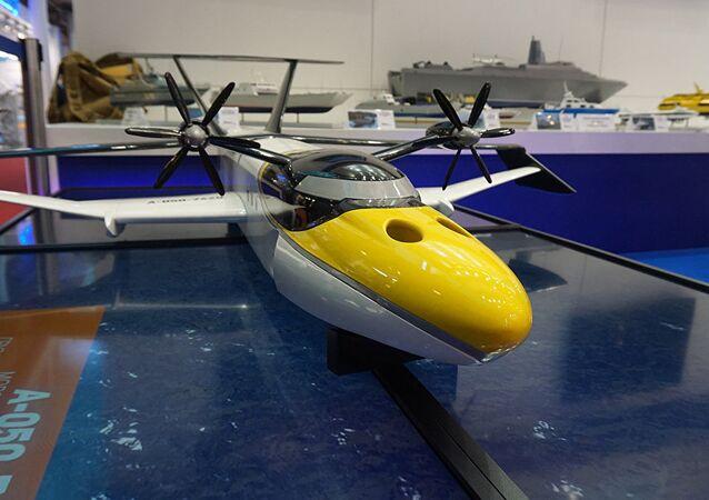 Ecranoplano russo Chaika A-050