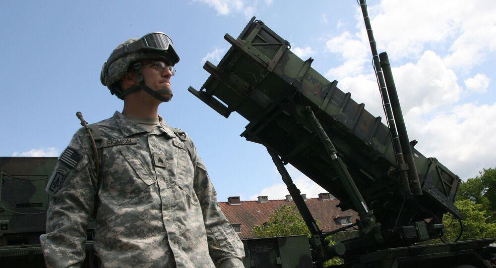 Uma bateria do sistema de defesa aérea dos EUA Patriot, que está instalado na cidade polonesa de Morag
