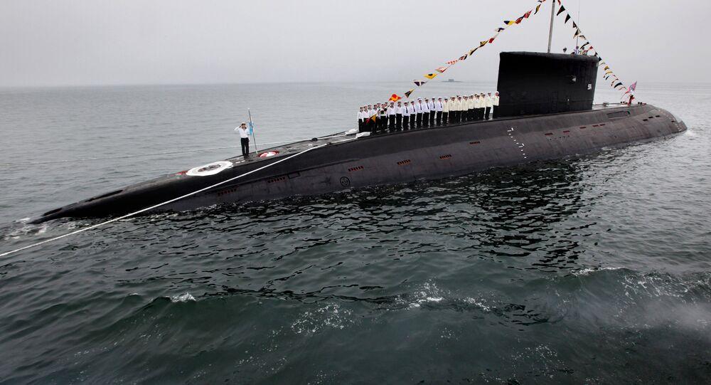 Um submarino ruso (imagem referencial)