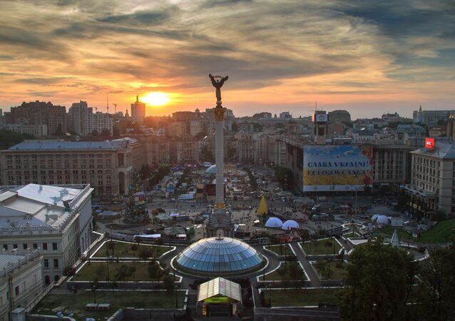 Praça de Independência em Kiev, Ucrânia