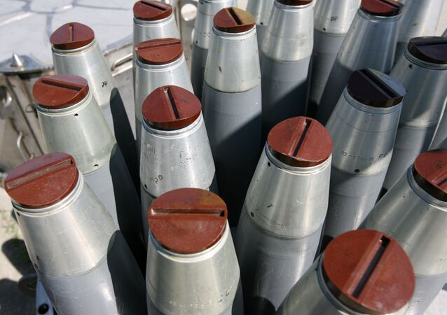 Bombas de fósforo em unidade de destruição de armas químicas na cidade russa de Shchuchye, na Sibéria (arquivo)