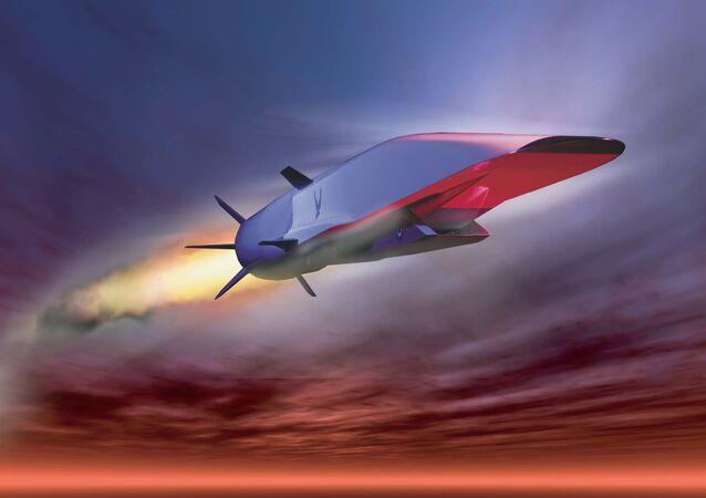 Avião hipersônico norte-americano X-51A (ilustração conceptual)