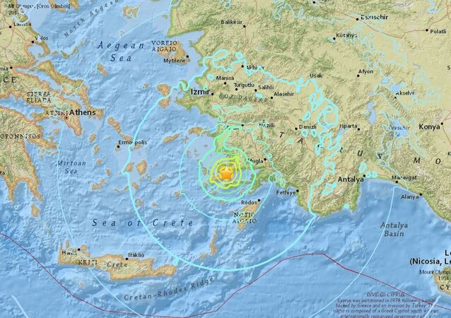 Terremoto entre a Grécia e a Turquia