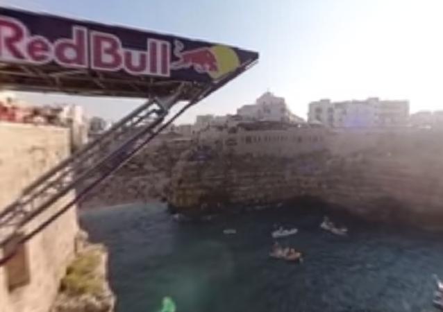 Saltos inéditos de ressalto rochoso na Itália em 360°