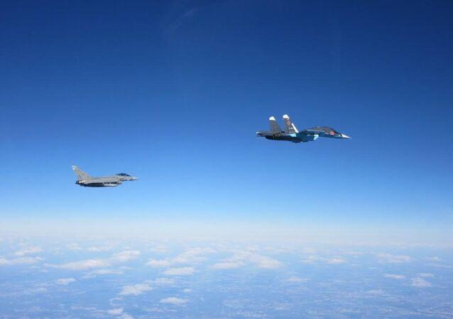 Caças Typhoon da Força Aérea Real britânica