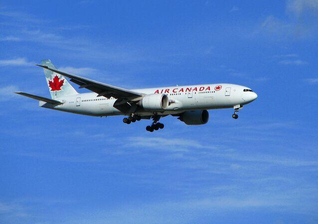 Um avião das linhas aéreas Air Canada