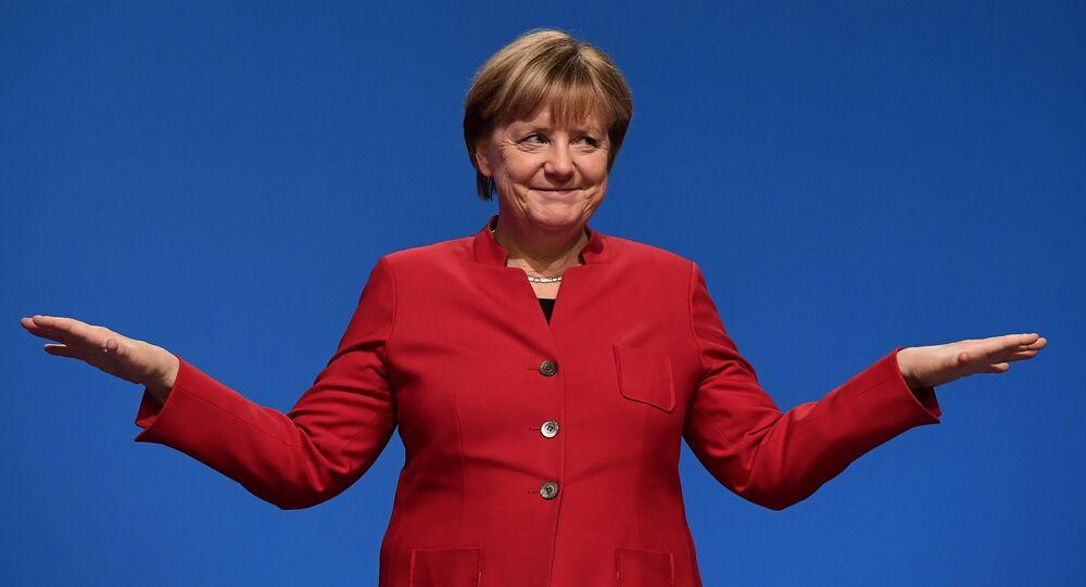 Angela Merkel em dezembro de 2016