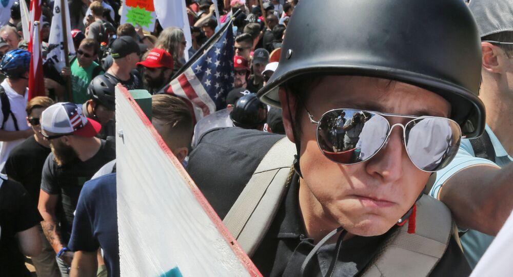 Manifestante de extrema direita em Charlottesville