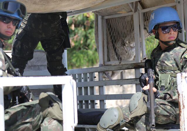 Militares brasileiros da missão MINUSTAH, Haiti
