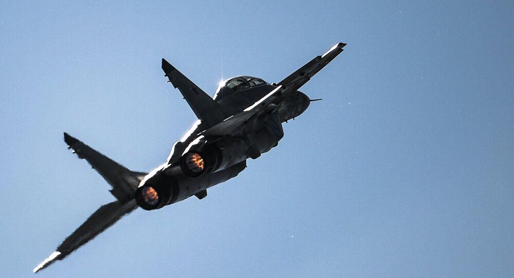 Caça russo MiG-29 (foto de arquivo)