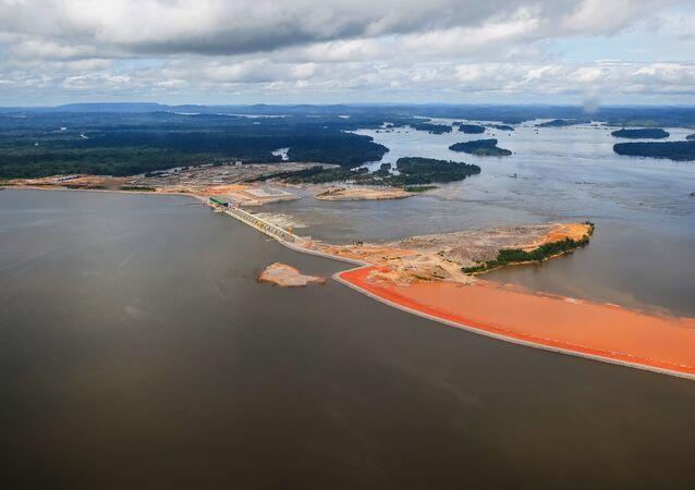 Vista aérea do estado do Pará, no Brasil, na altura de Vitória do Xingu (arquivo)