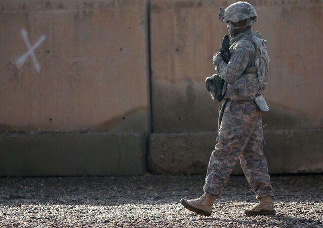 Soldado americano na base de Taji