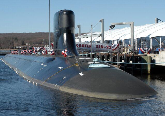Submarino norte-americano USS Jimmy Carter em Groton, estado de Connecticut, EUA (foto de arquivo)