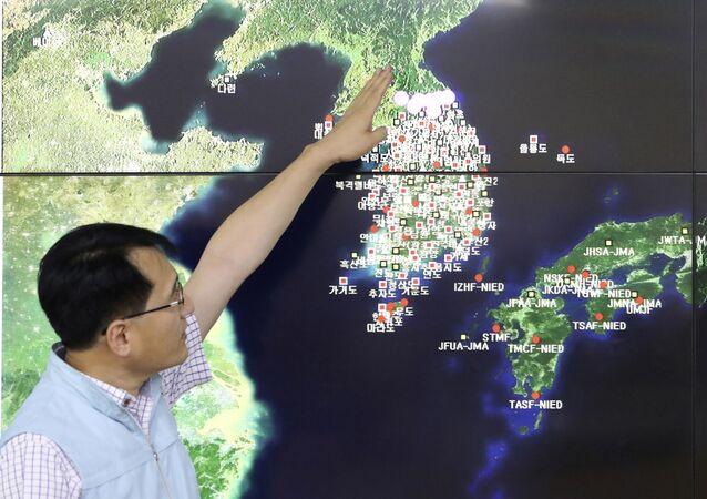 Mapa da península da Coreia