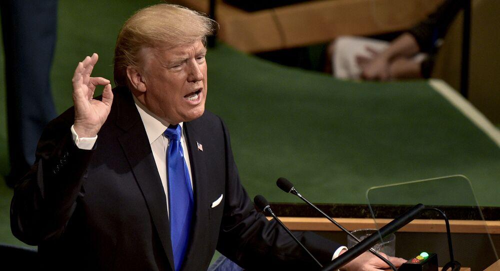 Presidente Trump discursa perante a Assembleia Geral da ONU (foto de arquivo)
