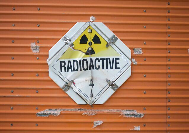 Aviso radioativo