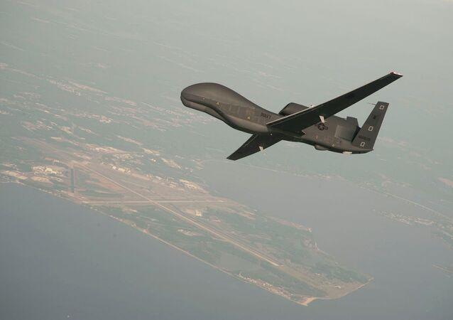 Drone norte-americano RQ-4 Global Hawk (arquivo)