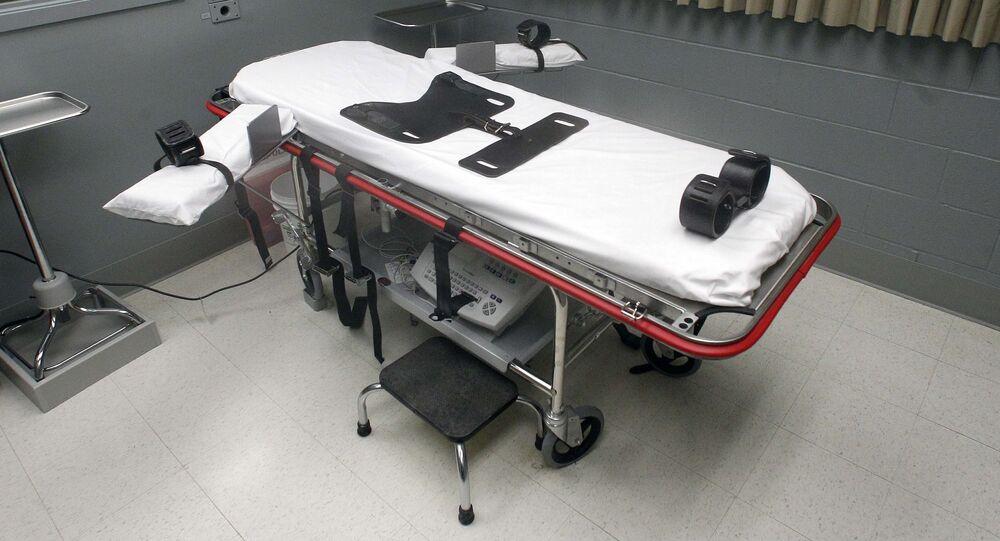 Sala de execução em Oregon.