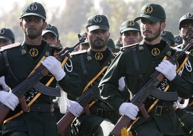 Membros do Corpo de Guardiões da Revolução Islâmica iraniano (foto de arquivo)