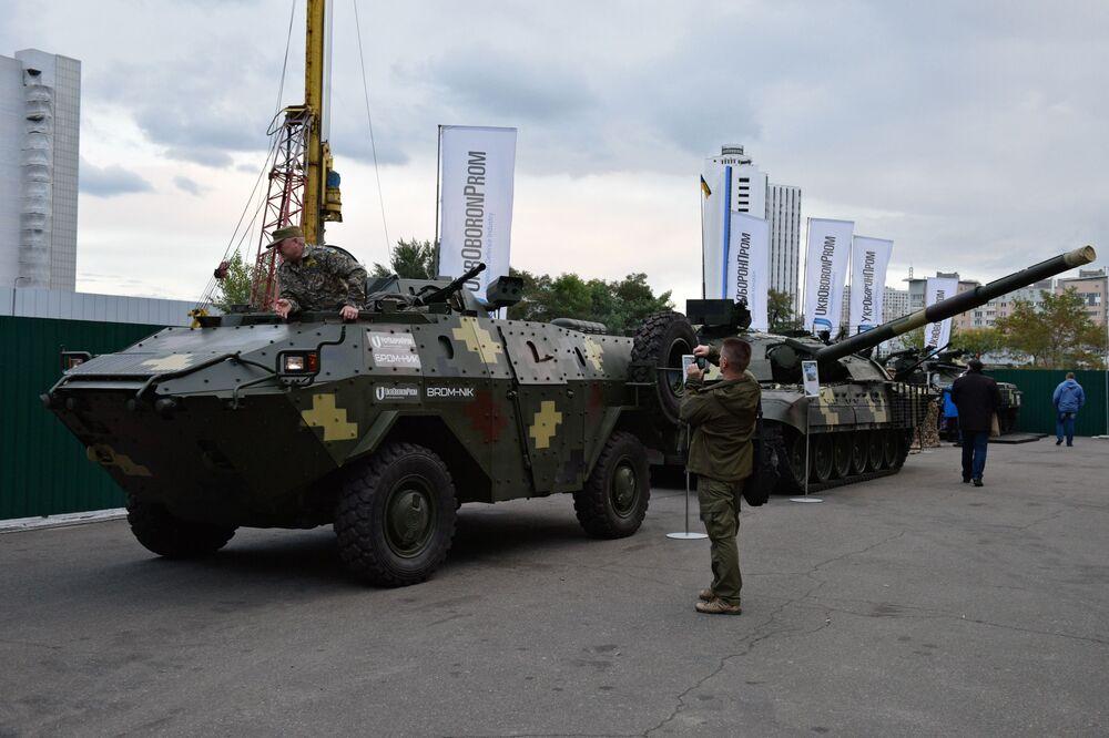 Veículos blindados BDRM-NIK na mostra Armas e Segurança 2017 em Kiev