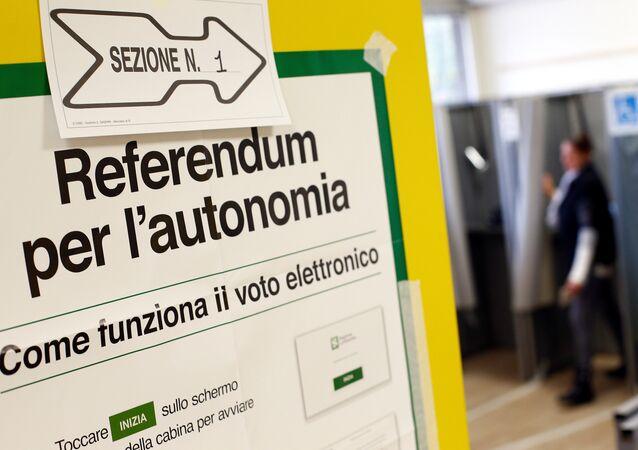 Italianos foram às urnas no dia 22 de outubro de 2017 para votar por uma maior autonomia das regiões do Vêneto e da Lombardia, no norte do país
