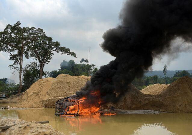 Ibama realiza operação de combate a garimpo ilegal na Terra Indígena Kayapó, no Pará (arquivo)
