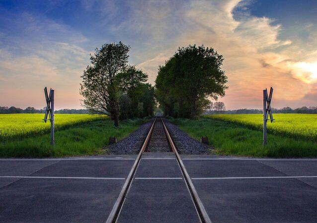 Trilhos atravessam estrada (imagem ilustrativa)
