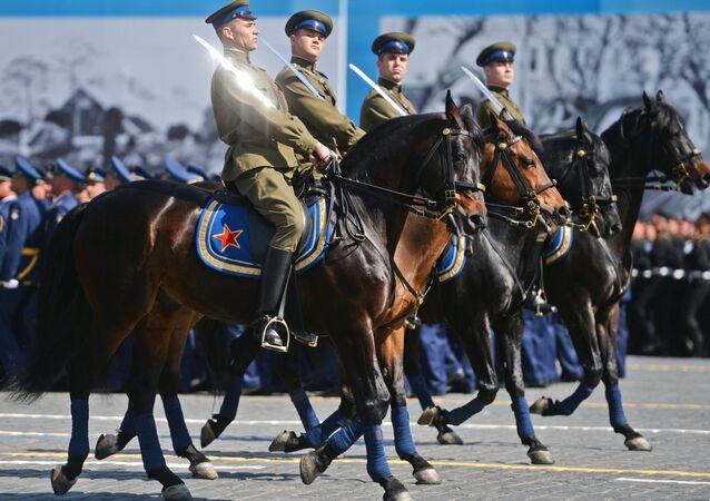 Os cadetes do corpo cossaco