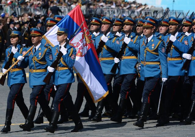 Representantes do Exército da Sérvia