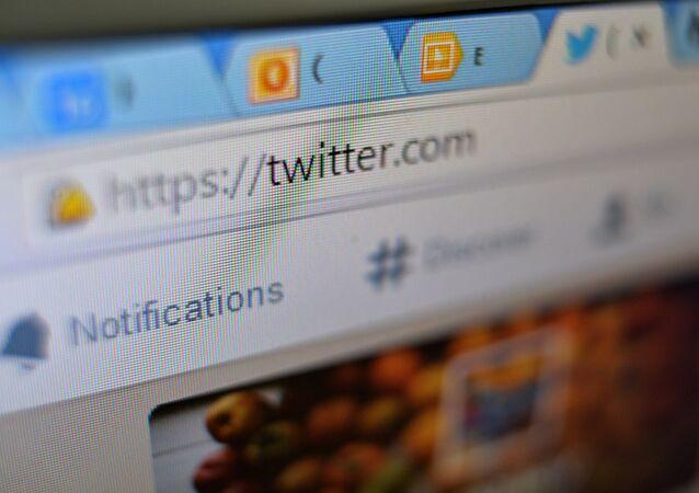Página do Twitter em um navegador de internet