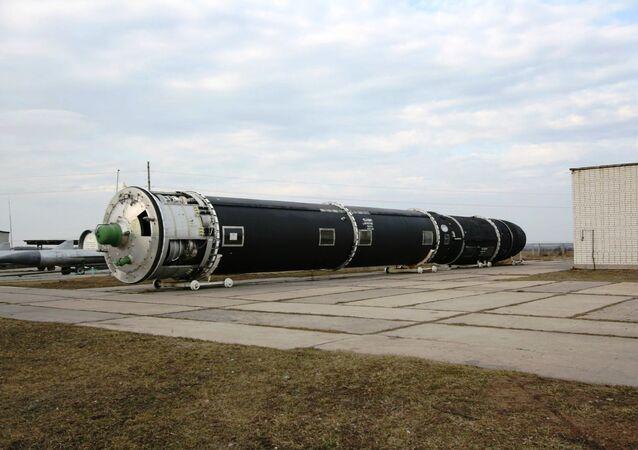 Míssil balístico intercontinental russo R-36M2, antecessor do RS-28 Sarmat