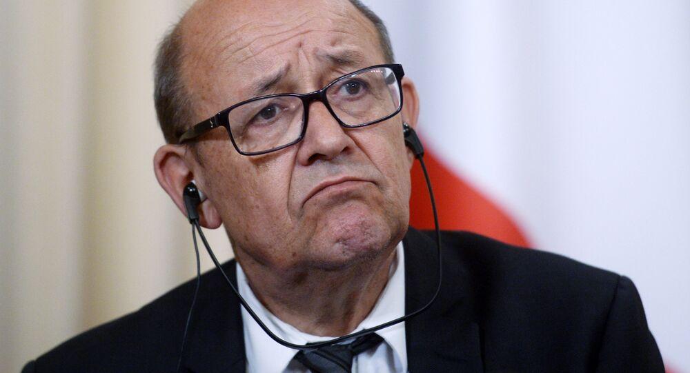Jean-Yves Le Drian, ministro das Relações Exteriores da França