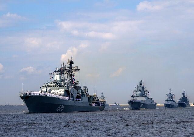 Navios da Marinha russa (foto de arquivo)