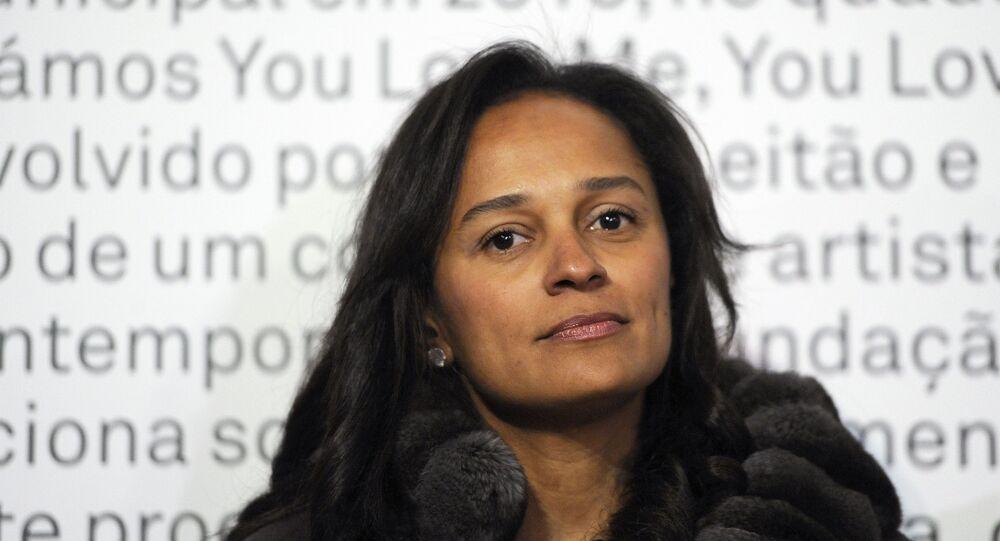 Isabel dos Santos, filha do ex-presidente de Angola José Eduardo dos Santos