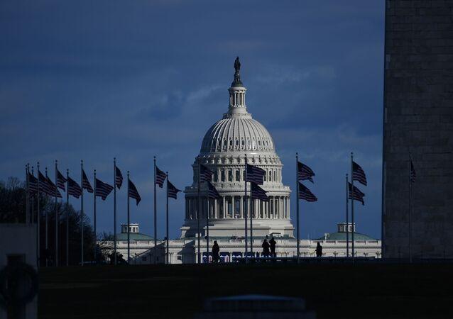 Capitólio de Washington, sede do poder legislativo federal dos Estados Unidos