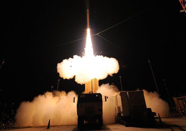 Teste de mísseis THAAD, foto de arquivo