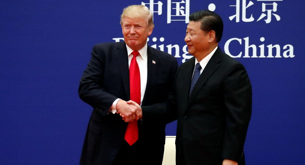 O presidente dos EUA, Donald Trump, e seu homólogo chinês, Xi Jinping