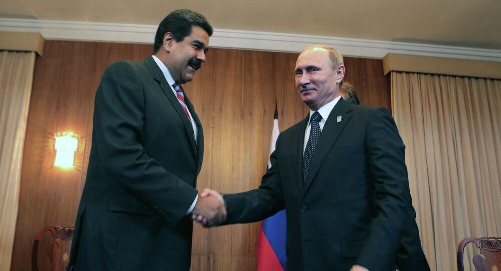 Presidente da Venezuela, Nicolás Maduro, com o líder russo, Vladimir Putin