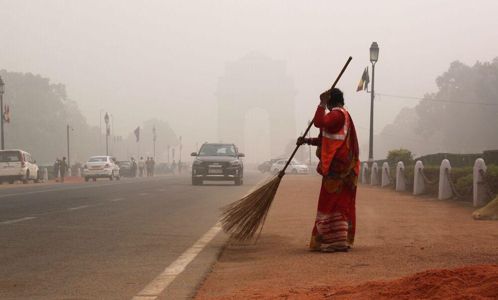 Smog em Nova Deli, Índia