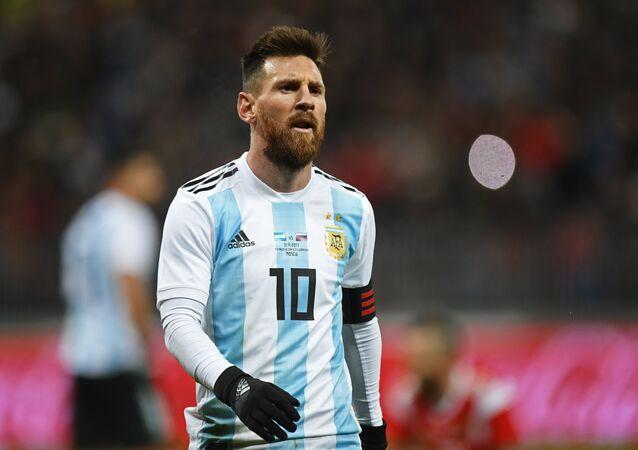Craque Lionel Messi durante uma partida amigável entre as seleções russa e argentina nas vésperas da Copa 2018, no estádio de Luzhniki, em 11 de novembro de 2017