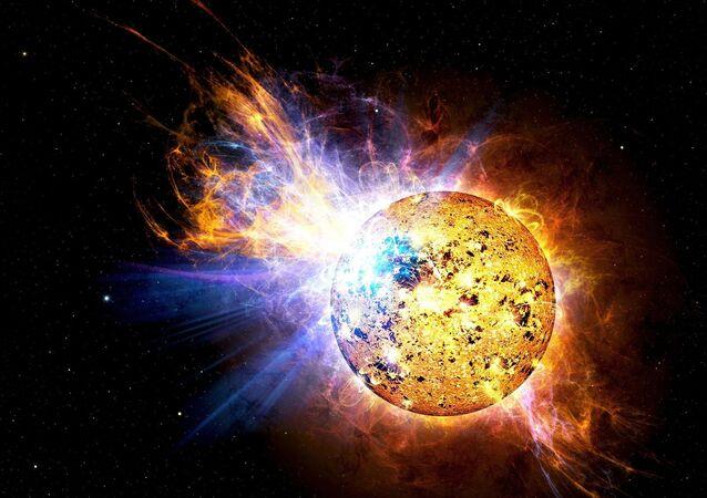 Explosão do Sol (ilustração artística)