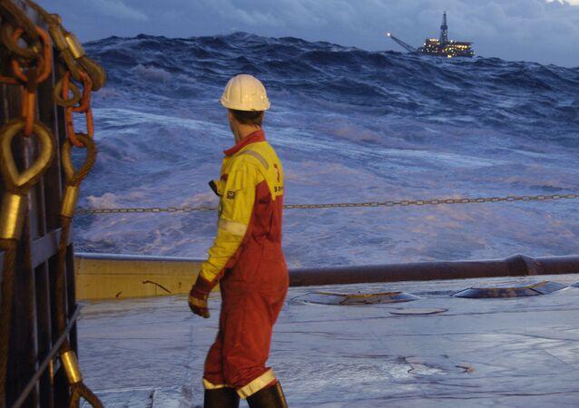 Exploração do petróleo no mar da Noruega (foto de arquivo)