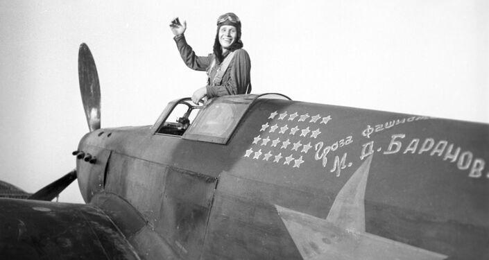 Piloto Mikhail Baranov, participante da batalha de Stalingrado e Herói da União Soviética
