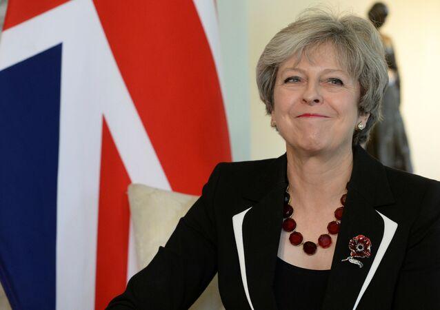 A primeira-ministra da Grã-Bretanha, Theresa May.